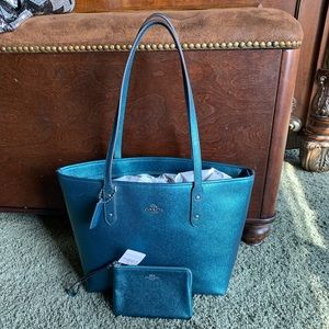 Coach City Tote and Coin zip